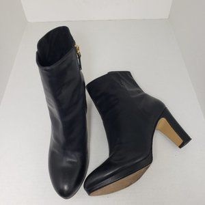 Nine West NWProtege Black Leather Boots Sz 9.5M